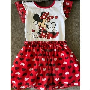 Minnie Mouse Red Heart Dress